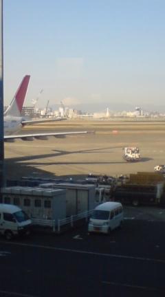 羽田空港から富士山がきれい