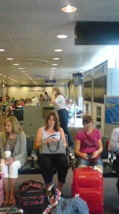 シカゴ空港で乗り換え待ち・小宮
